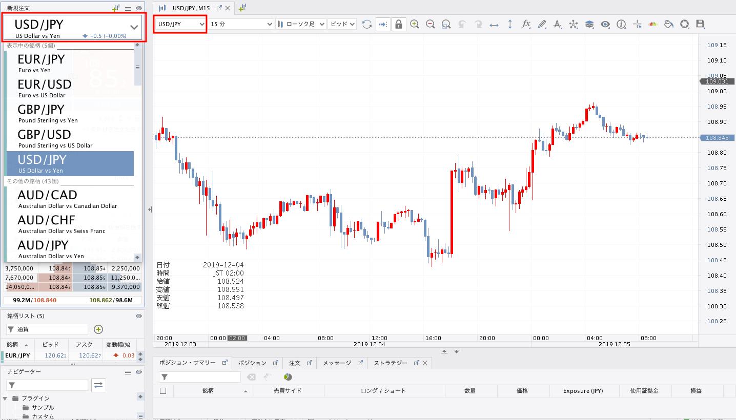 JForex3通貨ペアの変更