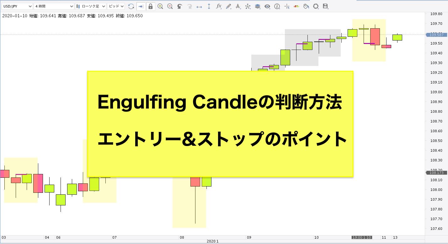 Engulfing Candle エンガルフィングキャンドルエントリー