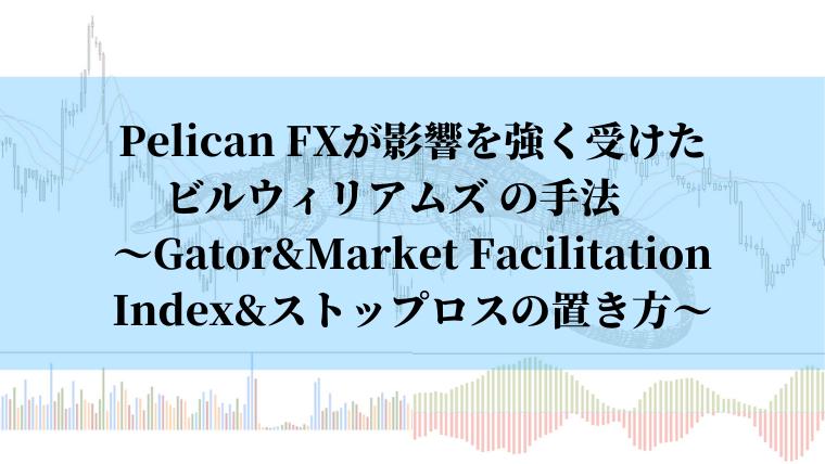 GatorMarket Facilitation Index、ストップロスの置き方